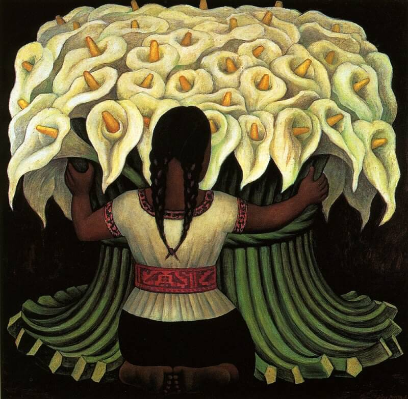 The flower seller by diego rivera for Diego rivera creation mural