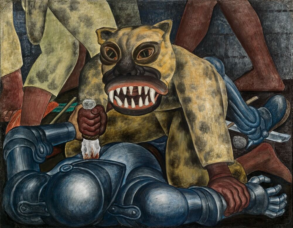 Indian warrior 1931 by deigo rivera for Diego rivera s most famous mural