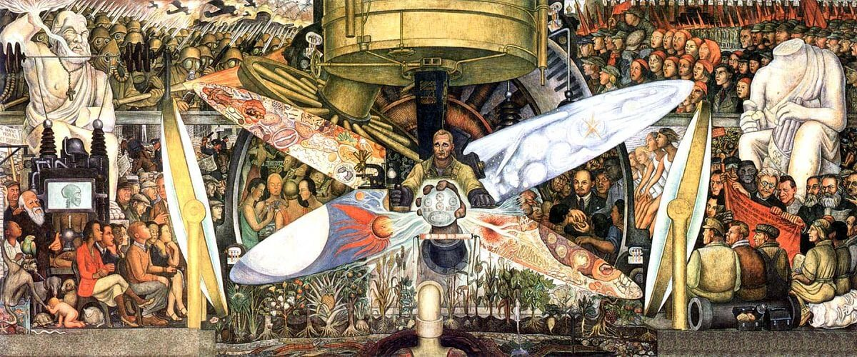 Man at the Crossroads by Diego Rivera