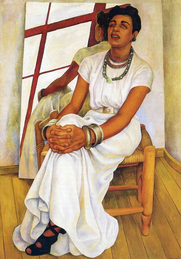 Portrait of Lupe Marin, 1938 by Diego Rivera