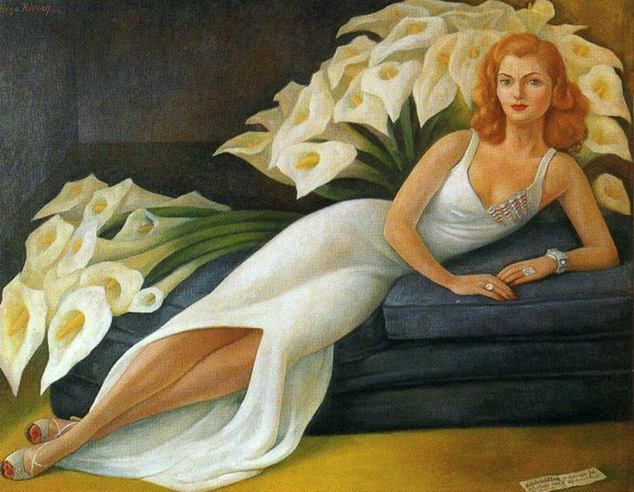 Portrait of Natasha Gelman, 1943 by Diego Rivera