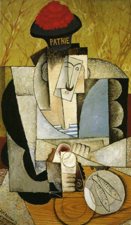 Sailor at Breakfast, 1914 by Diego Rivera