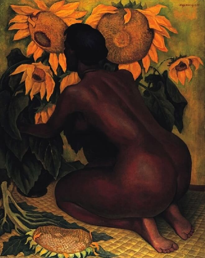 Sunflowers, 1921 by Diego Rivera