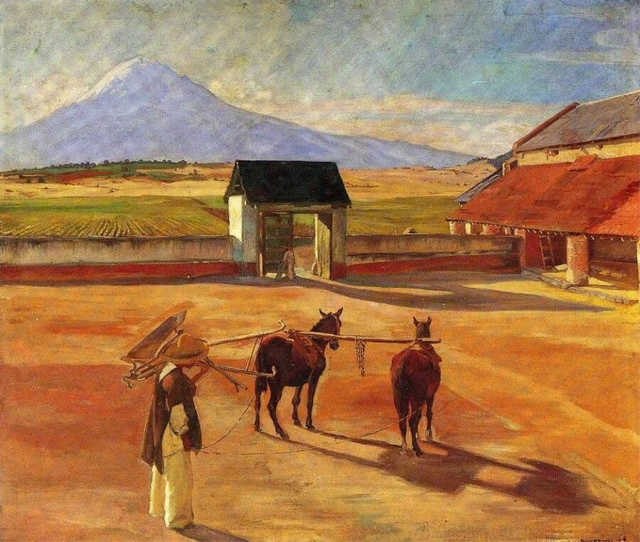 The Threshing Floor, 1904 By Diego Rivera