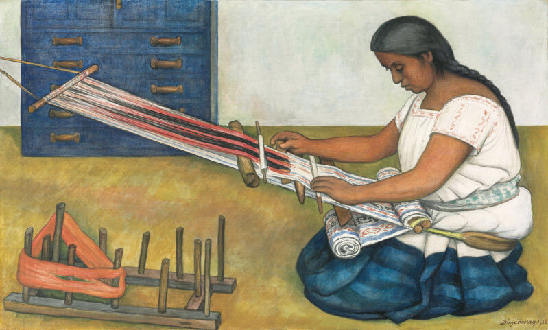 The weaver 1936 by diego rivera for Diego rivera mural chicago