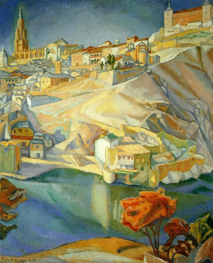 View of Toledo, 1912 by Diego Rivera