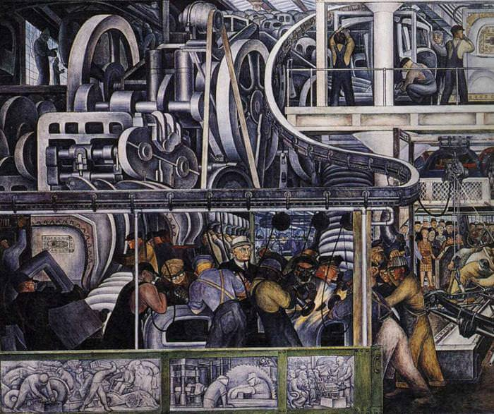 Diego rivera murals for Diego rivera detroit industry mural