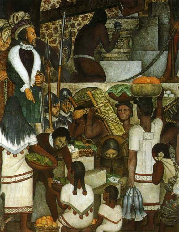 Diego rivera murals for Diego rivera la conquista mural