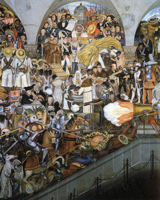 Diego rivera murals for Mural history
