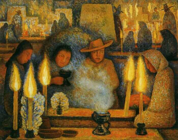 Diego rivera paintings for Diego rivera day of the dead mural